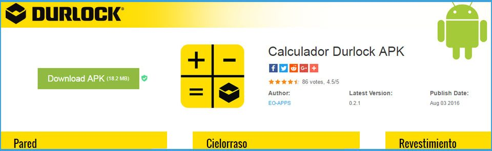 App Android para Calcular Materiales